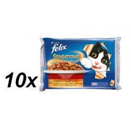 Felix saszetki dla kota Sensations multipack - wołowina z pomidorami + kurczak z marchewką - 10x(4x100g) Saszetki