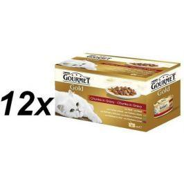 Gourmet mokra karma dla kota Gourmet Gold mięsne puszki 12x (4x85) Konserwy