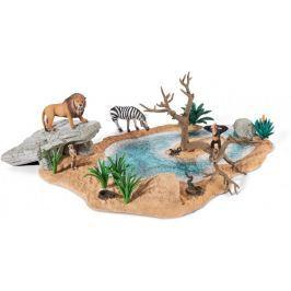Schleich Zestaw afrykańskie zwierzęta i wodopój 42258 Zwierzęta