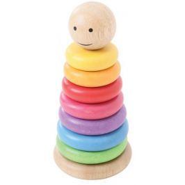 Bigjigs Toys Nakładki na tyczkę - kolorowy manekin Dydaktyczne