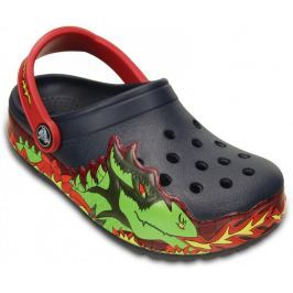Crocs buty CrocsLights Fire Dragon Clog K Navy 23-24 (C7) Sandały, Crocsy