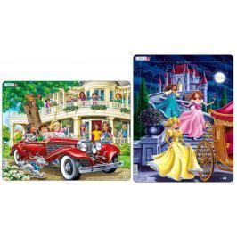 LARSEN Puzzle Koleżanki w kabriolecie i Trzy księżniczki Puzzle