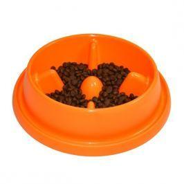 Argi plastikowa miska dla psa pomarańczowa 25,5 x 23 x 6,5 cm Miski