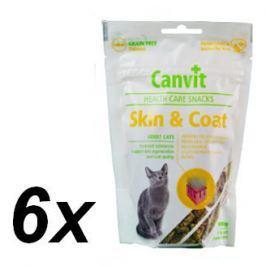 Canvit Snack CAT Skin & Coat 6 x 100g Przysmaki