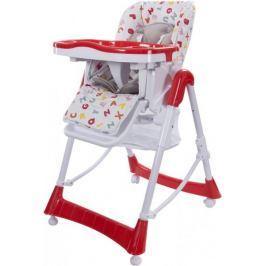 Sun Baby Krzesełko do karmienia Laura, biało-czerwone