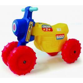 Teddies Motorek biegowy CROSS 2 - żółty Pojazdy dla maluchów