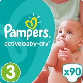 Pampers Pieluchy Active Baby 3 Midi (5-9 kg) Giant Pack - 90 szt. Pampers