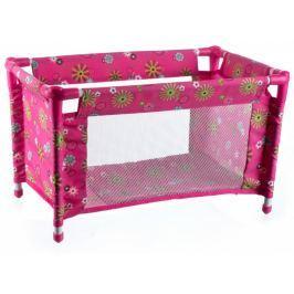 Teddies Turystyczne łóżeczko dla lalek, różowe Lalki