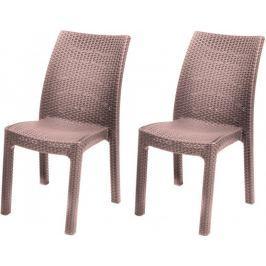 Allibert krzesła TOSCANA, cappucino - 2 szt. Krzesła