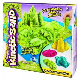 Kinetic Sand Podwodny świat + foremki 454g zielony Zrób to sam