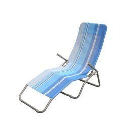 Happy Green leżak plażowy, metal + siatka - jasnoniebieski Leżaki