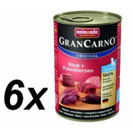 Animonda mokra karma GranCarno pur Junior - wołowina + serca indycze - 6 x 400g