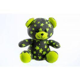 Teddies Świecący w ciemności miś, czarno-zielony Pluszowe, materiałowe