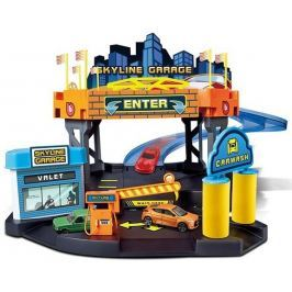 BBurago zestaw STREET FIRE Skyline, garaż + samochód (1:43) Garaże