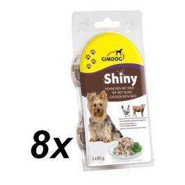 Gimpet mokra karma dla psa SHINY DOG - kurczak + wołowina - 8x (2 x 85g) Products