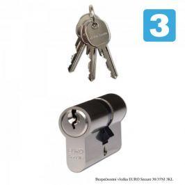 Richter Czech wkładka do zamka - EURO Secure 30/35 NI - 3 Klucze Wkładki do zamków