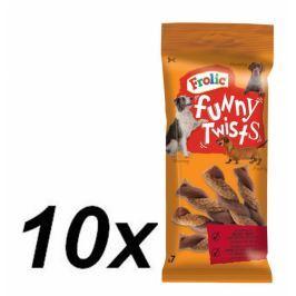 Frolic przysmak dla psa Funny Twists - 10 x 140 g