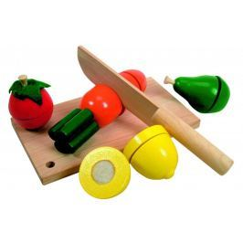 Woody Drewniany zestaw do krojenia z owocami