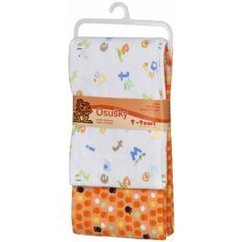 T-tomi Bawełniany ręcznik , pomarańczowy, 2 sztuki