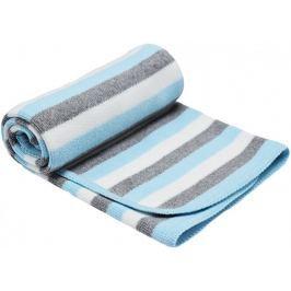 EKO Pletená deka pruh - tyrkys