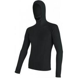 Sensor Bluzka z kapturem Double Face Merino Wool M Black S