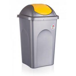 Stefanplast Kosz na śmieci, 60 litrów, żółty