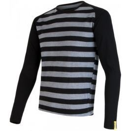Sensor Bluzka Merino Wool Active M Black Stripes S
