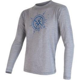 Sensor Koszulka z długim rękawem Merino Wool Pt Kompas M Grey XL