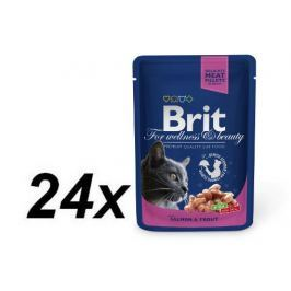 Brit Premium Cat Pouches with Salmon & Trout 24x100g