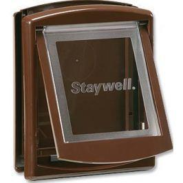 Staywell Drzwiczki z przezroczystą klapą, Małe, brązowy