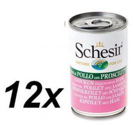 Schesir Konserwa Cat Chicken&Ham 12 x 140g