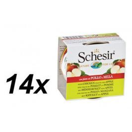 Schesir konserwaa Cat Chicken&Apple 14 x 75 g