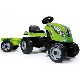 Smoby Traktor Farmer XL zielony z przyczepą