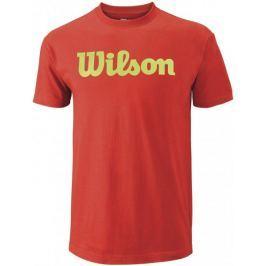 Wilson koszulka sportowa M Script Cotton Tee Fiesta/Green Glow M