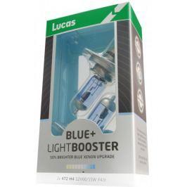 Lucas żarówki samochodowe LightBooster H1 12V 55W +50% Blue - 2 sztuki
