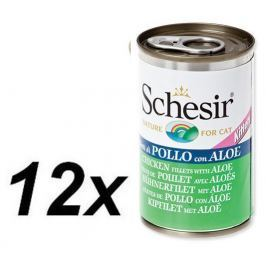 Schesir mokra karma dla kota z kurczakiem i aloesem 12 x 140g