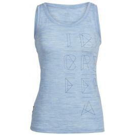 Icebreaker koszulka na ramiączkach Wmns Tech Lite Tank Crystalline Mist Blue Hthr M
