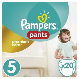 Pampers Premium Care Pieluchomajtki, Rozmiar 5, Junior, 20 szt.
