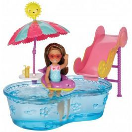Mattel Barbie Zestaw: Basen + Lalka Chelsea DWJ45 DWJ47