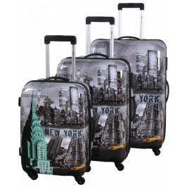 Leonardo 3 walizki podróżne New York