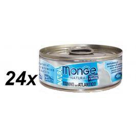 Monge mokra karma dla kota Natural Tuńczyk Atlantycki  24 x 80 g