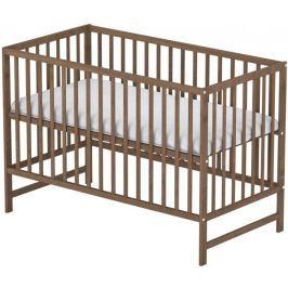 Sun Baby Drewniane łóżeczko Baby Sky klasik orzech