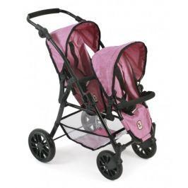 Bayer Chic Wózek TANDEM TWINNY, jasny różowy