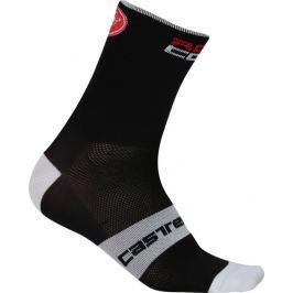 Castelli Rosso Corsa 6 Sock Black XXL černá