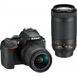 Nikon lustrzanka D5600 + 18-55 VR + 70-300 VR