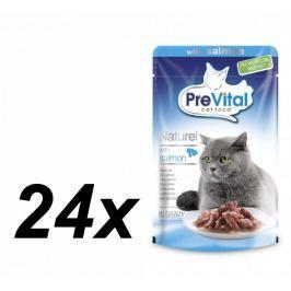 PreVital saszetki dla kota NATUREL z łososiem w sosie - 24 x 85 g