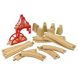 Bigjigs Rail Zestaw drewnianych szyn 18 części