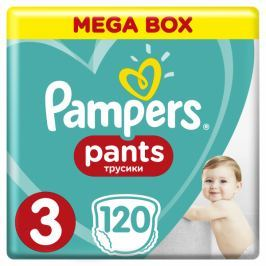 Pampers Pieluchomajtki Active Baby Pants 3 Midi - Mega Box (120 szt.)