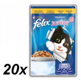 Felix saszetki dla kota FELIX Fantastic Junior - kurczak w galaretce, 20 x 100g