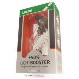Lucas zarówki samochodowe LightBooster H4 12V 60/55W +50% - 2 sztuki